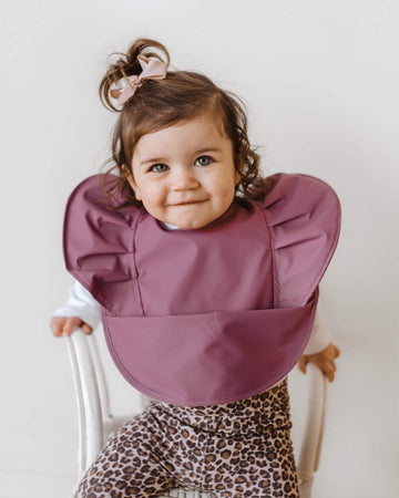 Mauve - Snuggle Bib Waterproor