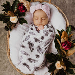 Snuggle swaddle and beanie set - Quill
