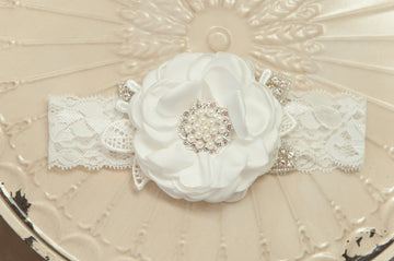 Christening Rose Headband