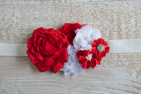 Red Rose Sash