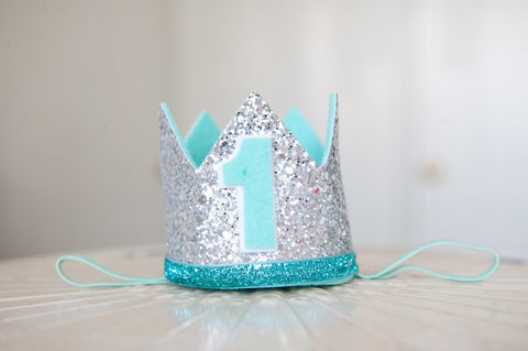 1st Birthday Crown - Blue