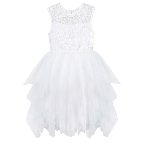 Tara Lace Heart Dress - Ivory