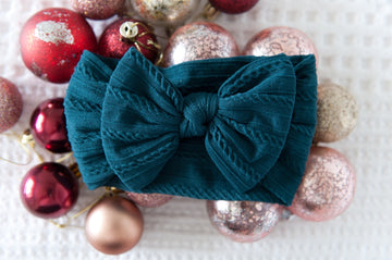 Super Soft Top Knot - Christmas Teal