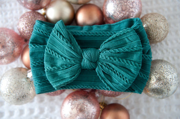 Super Soft Top Knot - Christmas Green