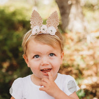 Floral Bunny Ears - Baby Elastic
