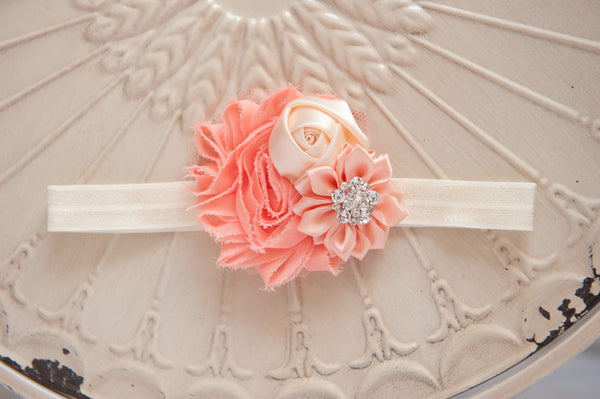 Peach Bloom Headband