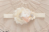 Cream boquet headband
