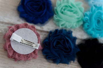 Shabby Chic Clip - Blues