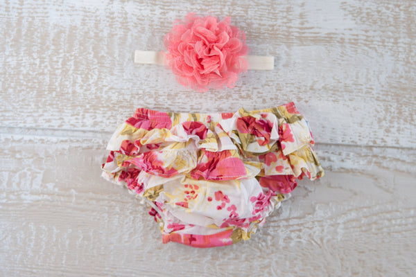 Frilly Bums - Floral Peach