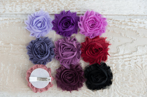 Shabby Chic Clip - Purples