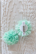 Unicorn Puff Clips - Green