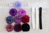 Shabby Chic Headband - Purples