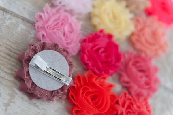 Shabby Chic Clip - Pinks