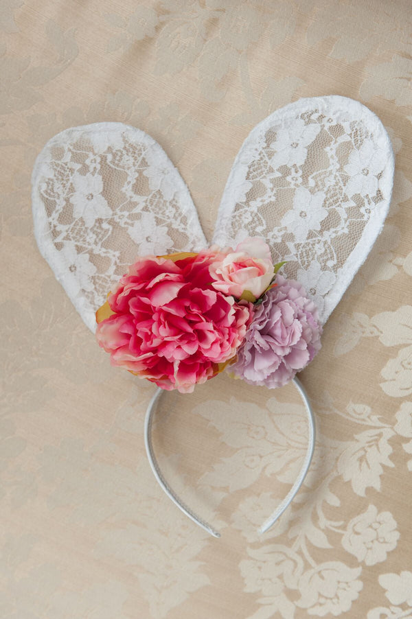Lace Bunny Ears - Flora