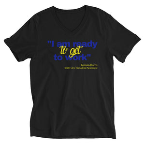 Pretty Poodles are Ready to Work Short Sleeve V-Neck T-Shirt