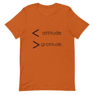 More Gratitude Less Attitude Short-Sleeve Unisex T-Shirt