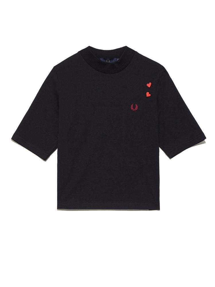 Женская футболка EMBROIDERED LYRIC T-SHIRT Легкий трикотаж FRED PERRY