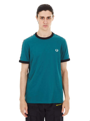 Футболка TAPED RINGER Легкий трикотаж FRED PERRY