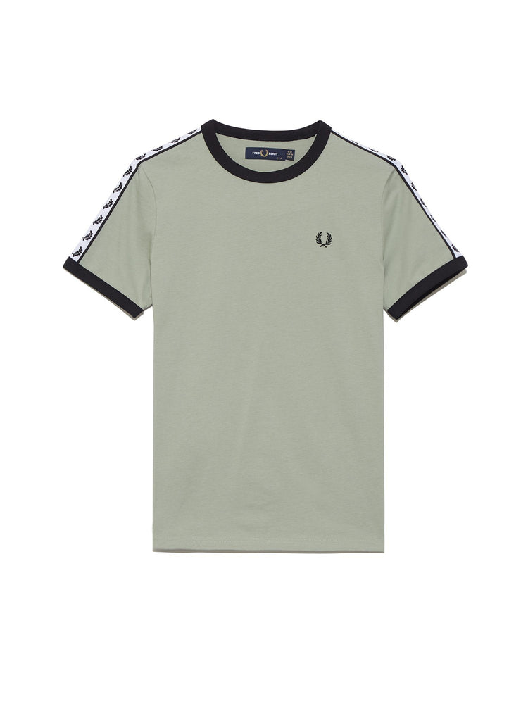 Футболка TAPED RINGER T-SHIRT Легкий трикотаж FRED PERRY