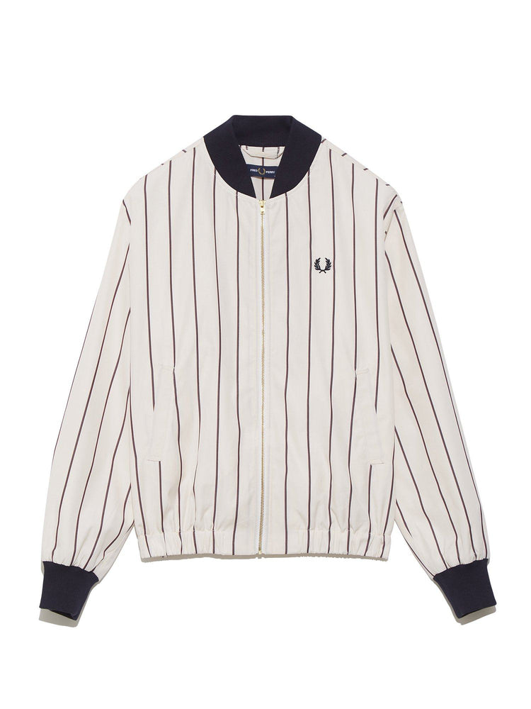 Бомбер STRIPED BATWING BOMBER JACKET Верхняя одежда FRED PERRY