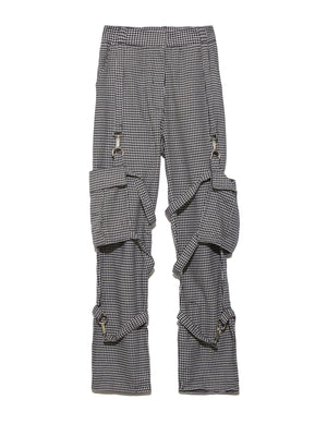 Брюки HOUNDSTOOTH COMBATS W/STRAPPED POCKETS Низ THE RAGGED PRIEST