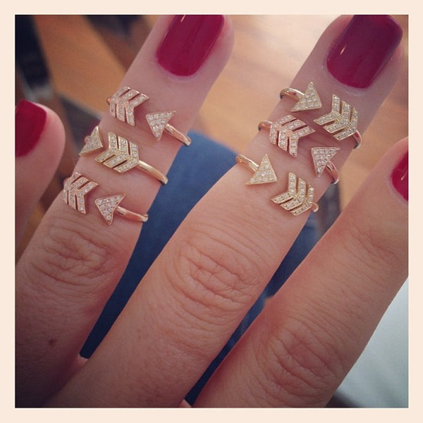 EF Collection Diamond Midi Arrow Ring - 2