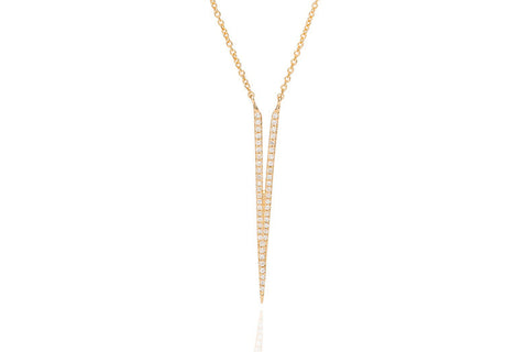 EF Collection Diamond Split Dagger Necklace - 1