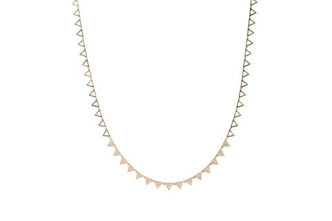 EF Collection Diamond Eternity Triangle Necklace - 1