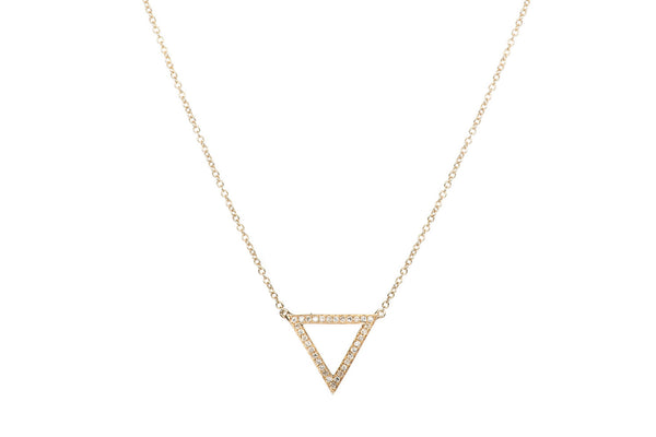 EF Collection Diamond Open Triangle Necklace - 1