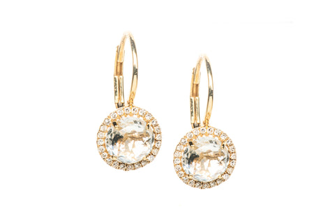 EF Collection Diamond White Topaz Drop Earrings - 1
