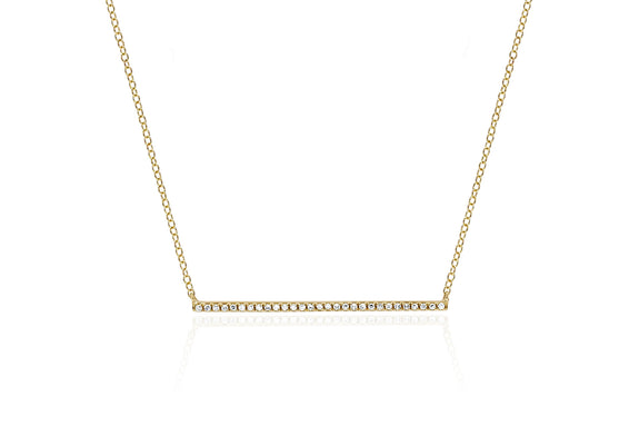 EF Collection Diamond Bar Necklace - 1