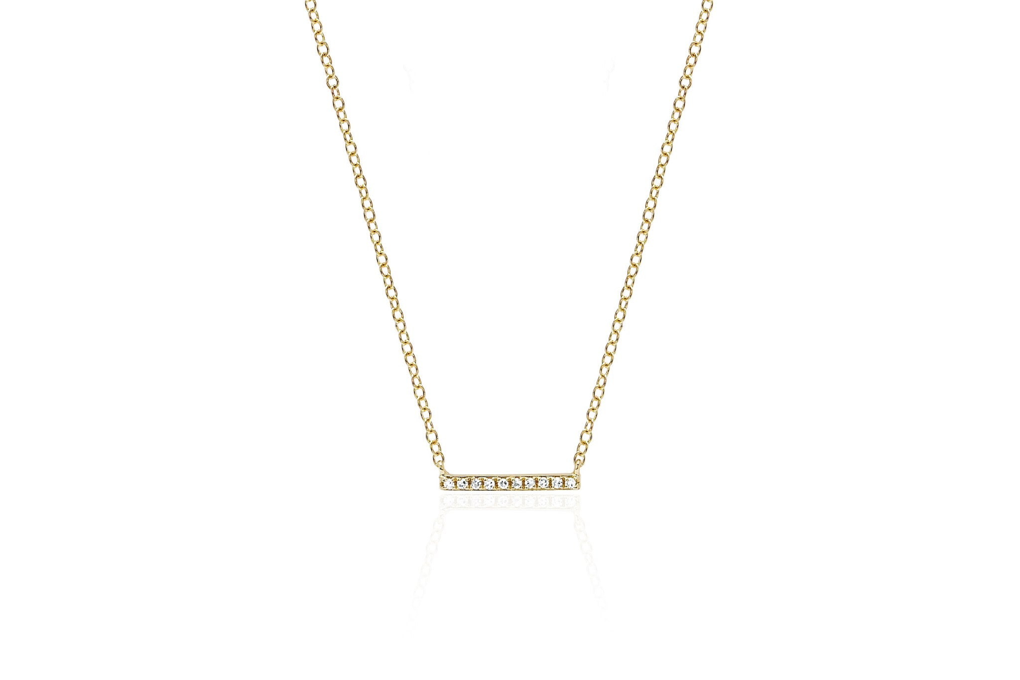 EF Collection Mini Diamond Bar Pendant Necklace OIeNHL