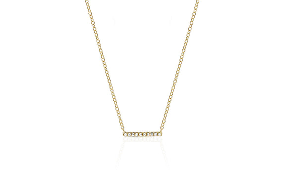 EF Collection Mini Diamond Bar Necklace - 1