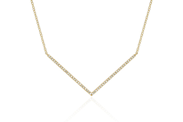 EF Collection Diamond Chevron Necklace - 1