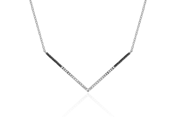 Diamond Fade Chevron Necklace