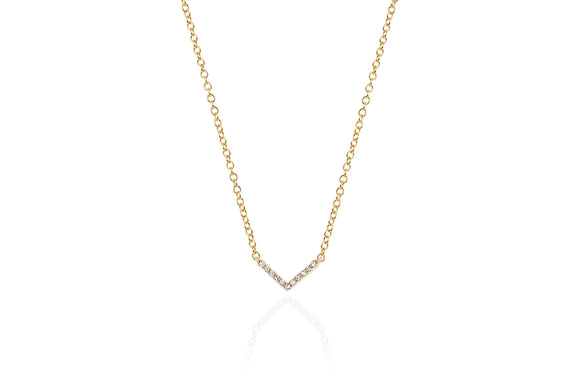 Mini Diamond Chevron Necklace