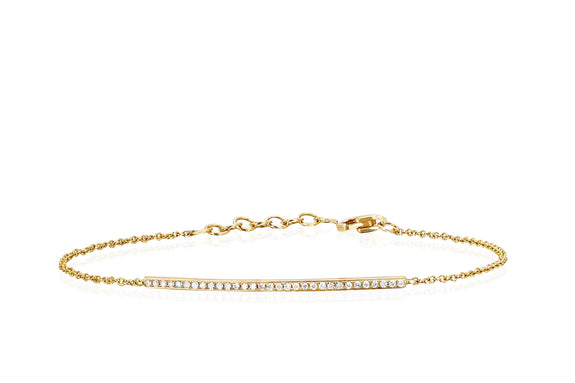 Diamond Bar Chain Bracelet