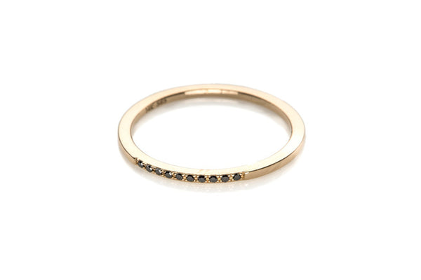 Black Diamond Segment Stack Rings