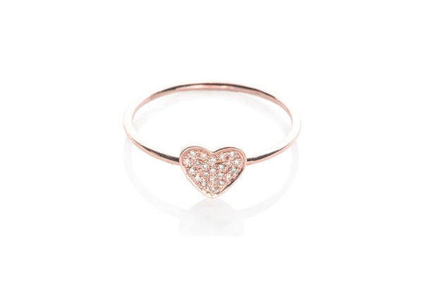 EF Collection Diamond Heart Ring - 1