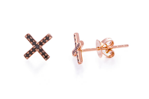 39f3fb3fb Black Diamond X Stud Earring – EF Collection