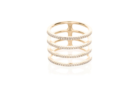 EF Collection Diamond Multi Spiral Ring - 1