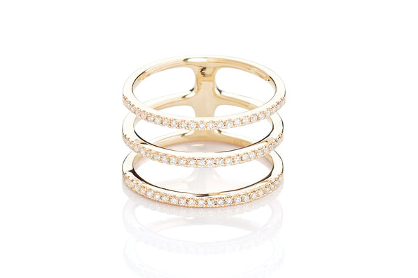 EF Collection Diamond Triple Spiral Ring - 1