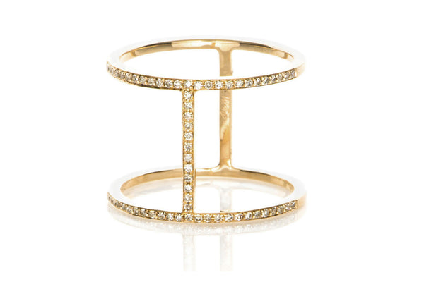 EF Collection Diamond Bar Ring - 1