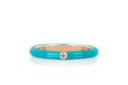 Jumbo Single Diamond Turquoise Enamel Stack Ring