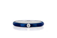 Jumbo Single Diamond Navy Enamel Stack Ring