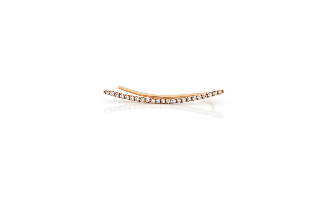 Diamond Curved Bar Ear Cuff