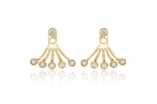 EF Collection Multi Bezel Diamond Ear Jacket - 1