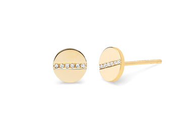 EF Collection Diamond Screw Stud Earrings - 1
