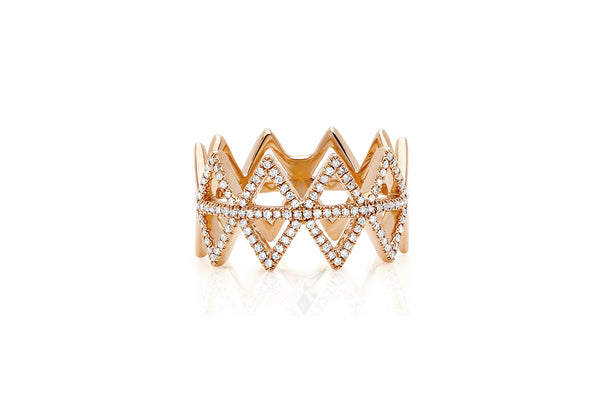 EF Collection Diamond Multi Triangle Ring - 1