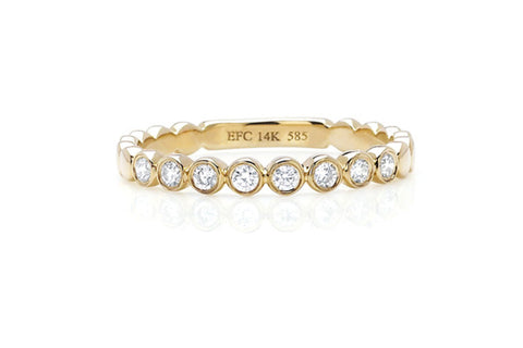 EF Collection Diamond Bezel Stack Ring - 1